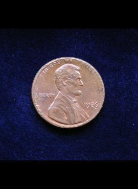 JAV, 1 centas 1986m