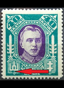 Tarpukario Lietuva, abartas MiNr 127 MH*