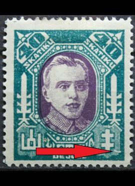 Tarpukario Lietuva, abartas MiNr 127 MLH*