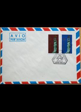 Latvija, 1991m pirmos dienos oro pašto vokas G