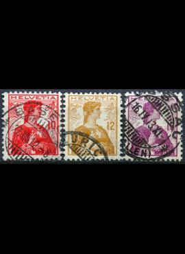 Šveicarija, pilna serija ScNr 164-166 Used(O)