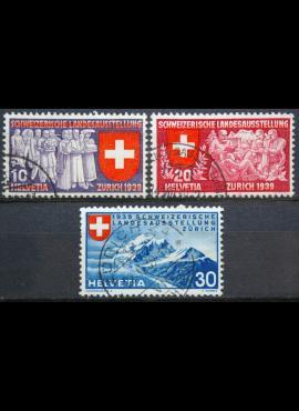 Šveicarija, pilna serija ScNr 250-252 Used(O)