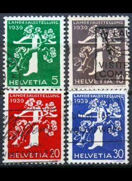 Šveicarija, pilna serija ScNr 260-263 Used(O)
