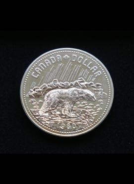 Kanada, SIDABRINIS 1 doleris, 1980m