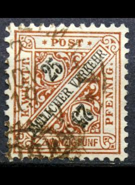 Senoji Vokietija, Viurtembergas, tarnybinis, 1917m, MiNr 251 Used(O)