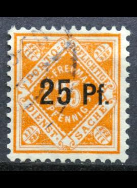 Senoji Vokietija, Viurtembergas, tarnybinis 1916m, MiNr 122x Used(O)