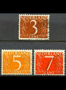 Nyderlandai, pilna serija ScNr 340-341, 343 Used(O)