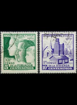 Čilė, pilna serija ScNr 337-338 Used(O) E