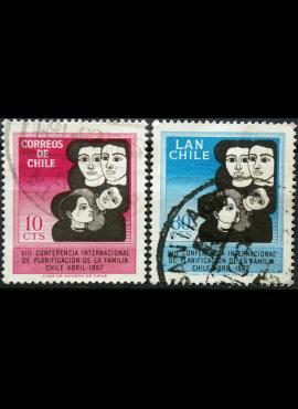 Čilė, pilna serija ScNr 362, C272 Used(O) E