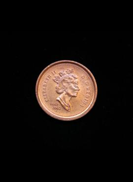 Kanada, 1 centas 2002m