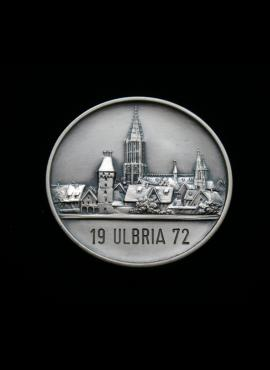 Vokietija, 1972m Ulmo miesto filatelijos parodos medalis