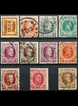 Belgija ScNr 144, 146-152, 154, 156-157 Used(O)