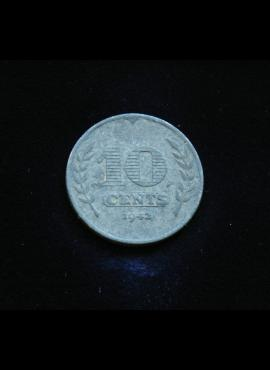 Nyderlandai, 10 centų 1942m
