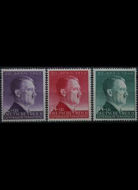 Vokietijos Reichas, Lenkijos okupacija, pilna serija MiNr 101-103 MNH**
