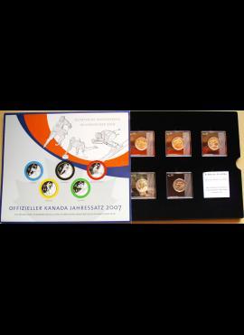 Kanada, 2007m Vankuverio Olimpinių žaidynių 25 centų monetų rinkinys proginėje pakuotėje