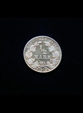 Vokietijos Reichas, SIDABRINĖS 1/2 markės 1916m-D