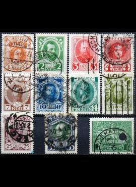 Rusija MiNr 82-88, 90-92, 95 Used(O)
