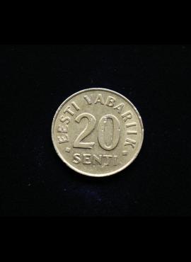 Estija, 20 sentų 1992m
