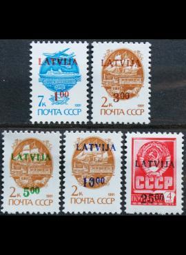 Latvija, pilna serija MiNr 335-339 MNH**