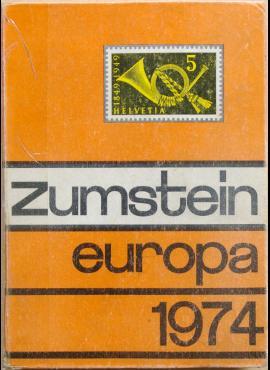 Zumstein Europa 1974 m. pašto ženklų katalogas G