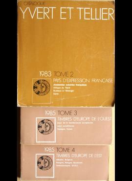 3 tomai Yvert et Tellier 1983 m., 1984 m. pašto ženklų katalogai G