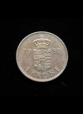 Danija, 1 krona 1980m