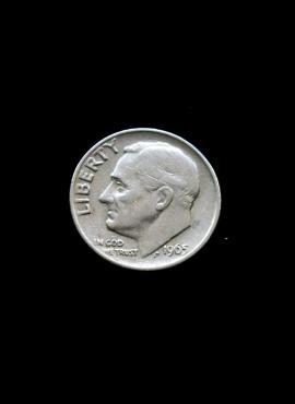 JAV, 10 centų 1965m A