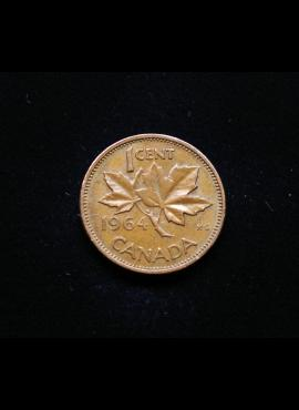 Kanada, 1 centas 1964m