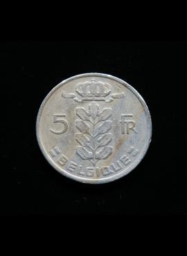 Belgija (Belgique), 5 frankai, 1971m