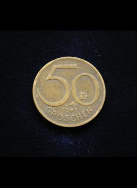Austrija, 50 grošenų, 1961m