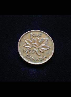 Kanada, 1 centas 1955m