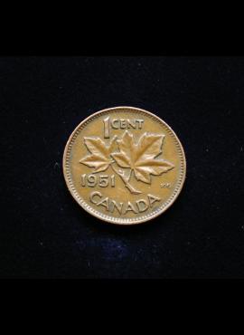 Kanada, 1 centas 1951m