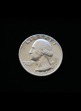 JAV, 25 centai 1980m-D A