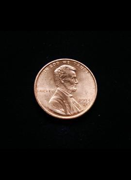 JAV, 1 centas 1993m-D