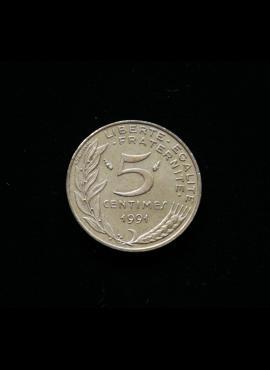 Prancūzija, 5 santimai 1991m A