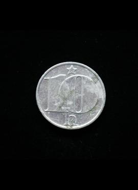 Čekoslovakija, 10 helerių 1977m