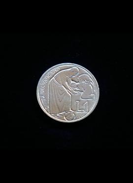 Vatikanas, proginė 1 lira 1975m