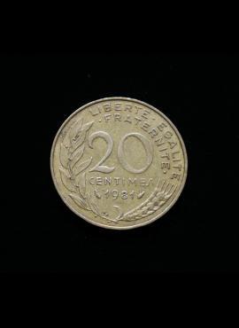 Prancūzija, 20 santimų 1981m A