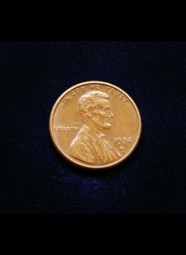 JAV, 1 centas 1974m-D