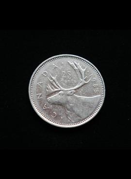Kanada, 25 centai 1985m