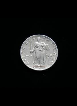 Vatikanas, 5 liros 1951m