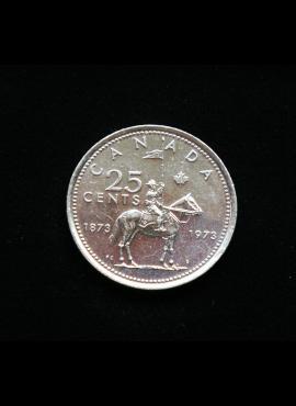 Kanada, proginiai 25 centai 1973m