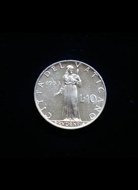 Vatikanas, 10 lirų 1953m