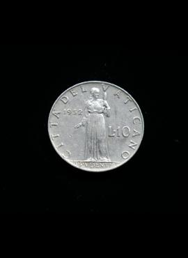 Vatikanas, 10 lirų 1952m