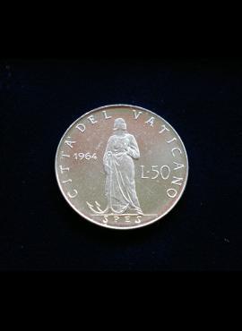 Vatikanas, 50 lirų 1964m