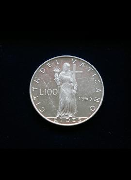 Vatikanas, 100 lirų 1963m