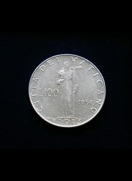 Vatikanas, 100 lirų 1958m