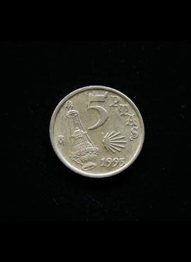 Ispanija, 5 pesetos 1993m