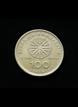 Graikija, 100 drachmų 1990m