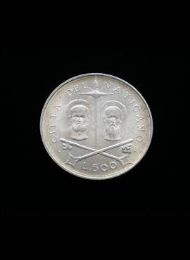 Vatikanas, SIDABRINĖS 500 lirų 1967m